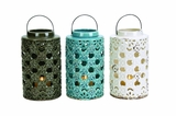 Elegant Styled Ceramic Lantern 3 Assorted by Woodland Import
