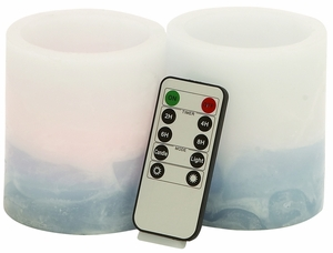 Elegant Styled Led Flameless Candle Remote Set by Woodland Import