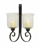 Elegant Styled Metal Glass Wall Sconce by Woodland Import