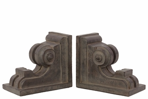 Elegant & Stylish Fiberstone Bookend & Wall Decor w/ Intricate Carvings