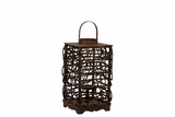 Elegant Traditional Rattan Lantern in Brown Color