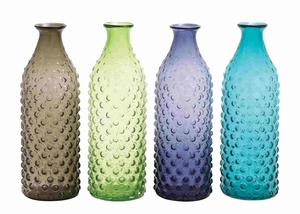 Elegant Unique Pattern Set of Four Assorted Glass Vase Brand Benzara