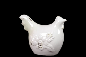 Elegant White Elegant Ceramic Rooster Home Decor by Urban Trends Collection