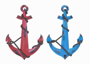 Elegant Wood Anchor 2 Assorted with Minimal Detail Work Brand Woodland