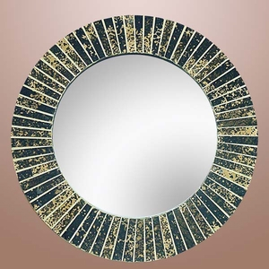 Elegant Wood Glass Mosaic Mirror with Modern Artistic Design Brand Woodland