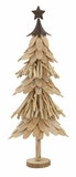Elegant Wood Metal Xmas Tree - 76679 by Benzara