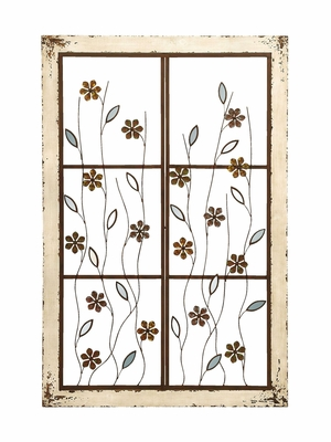 Elegant Wooden and Metal Mirror Wall D�cor Work Brand Woodland