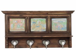 Elegant Wooden Cabinet with Picturesque Effect