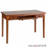 Elegant Wooden Desk with Two Drawers and Keyboard Tray by Southern Enterprises