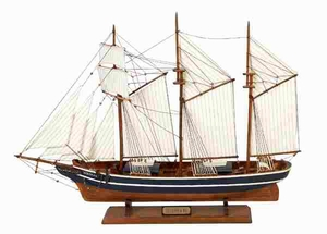 Elegant Wooden Ship in Brown Finish with Versatile Design Brand Woodland