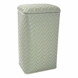 Elegante Collection Apartment Hamper in Sage Green by Redmon