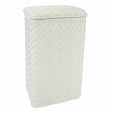 Elegante Collection Apartment Hamper in White by Redmon