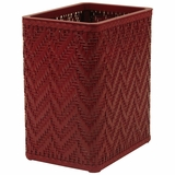 Elegante Collection Decorator Color Wicker Wastebasket in Raspberry by Redmon