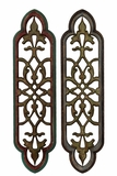 Elegantly Crafted Traditional Design Wooden Wall Decor Set of Two
