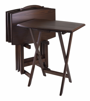 Winsome Wood Elegantly Designed And Multi Purpose 5pc Oversize TV Table
