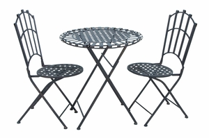 Elegantly Designed Durable Metal Bistro set with Versatile Style Brand Woodland