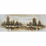Elegantly Painted Winter Reverie I Painting by Yosemite Home Decor