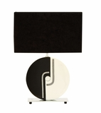 Elegantly Simple Contemporary Two Tone Black And White Table Lamp Brand Woodland