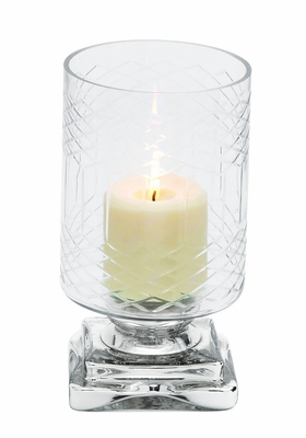 Elegantly Styled Exclusive Glass Candle Holder by Woodland Import