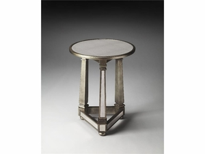 "Elena Mirrored End Table 20""Diam. by Butler Specialty"