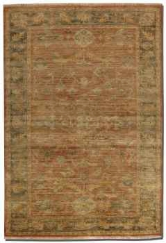 "Eleonora 16"" Rug with Olive Green Detail and Golden Ivory Accents Brand Uttermost"