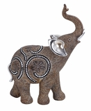 Table Top Polystone Elephant  Statue - 54911 by Benzara