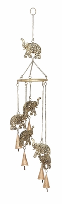 ELEPHANT WIND CHIMES Unique Garden Or Patio Decor Brand Woodland