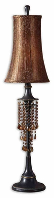 Ellenton Amber Bronze Buffet Lamp with Gold Highlights Brand Uttermost