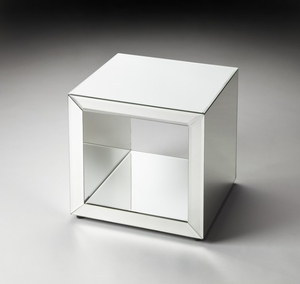 "Emerson Mirrored Bunching Cube 17.5""H by Butler Specialty"