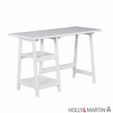 Enchanting Gavin Wooden White Desk with Storage Space by Southern Enterprises