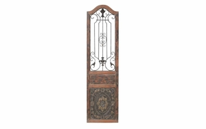 Enchanting Wall Decor With Aged Wood and Iron Fence Work Brand Woodland