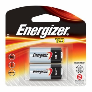Energizer CR123 Photo Batteries, 2 Pack