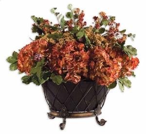 English Autumn Floral Plastic Bouquet in Multicolor Brand Uttermost