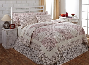 English Cottage Premium Soft Cotton Quilt Luxury Super King 120 x105 by VHC Brands