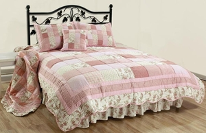 English Rose Bed Ruffle Bed Skirt King Size New Brand C&F