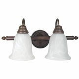Enthralling 2 Lights Vanity Lighting in Dark Brown by Yosemite Home Decor