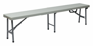 Enthralling Contemporary Styled 6' Fold in Half Bench by Office Star