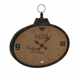Enthralling Customary Styled Metal Wall Clock by Woodland Import