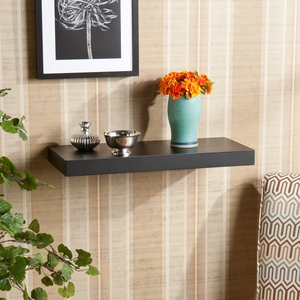 Enthralling Styled Chicago Floating Shelf Black by Southern Enterprises