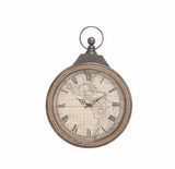 Enthralling Styled Metal Rowall Clock by Woodland Import