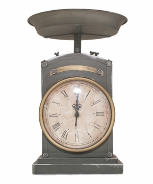 Enthralling Styled Silver Metal Table Top Clock by Three Hands Corp