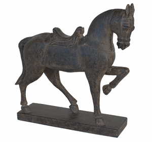 Enthrelling Brown Resin Horse Figurine by Three Hands Corp