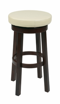 Enticing Faux Leather Seat Metro Round Shaped Barstool by Office Star