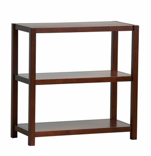 Enticing Hampton Wooden Bookcase with Three Tiers by Office Star