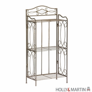 Enticing Metallic 3 Tier Isabella Storage Rack by Southern Enterprises
