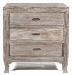 Enticing Wooden Aria Nightstand with Three Drawers