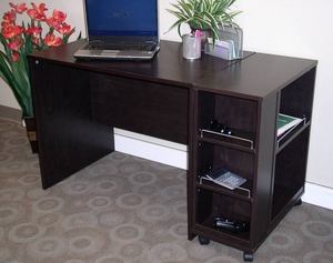 Espresso Contemporary Styled Attractive Office Desk