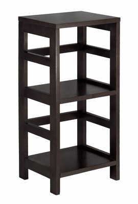 Espresso Leo Storage 2-Tier Narrow Book Shelf by Winsome Woods