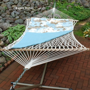 Esprit Robin / Robin Egg Solid Quilted Reversible Hammock Pad by Alogma