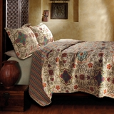 Esprit Spice Cotton Quilt King Set With 2 Pillows 105 x 95 Inch by Greenland Home Fashions